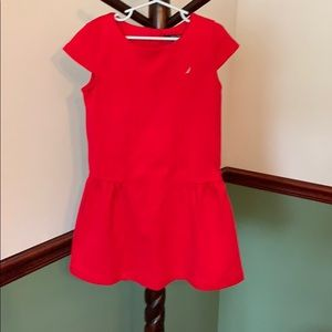 Little girls red Nautica dress